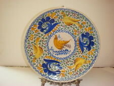 Antique (c. 19 Cntury) Spanish Majolica Faience Plate, Charger-Great Condition