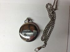 Reliant Kitten Estate ref204 car emblem on a polished Silver Case Pocket Watch