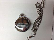 Reliant Kitten Estate ref204 car emblem on a polished Silver Case Pocket Watch