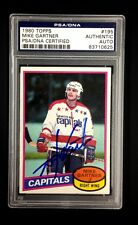 MIKE GARTNER SIGNED 1980 TOPPS CAPITALS ROOKIE CARD #195 PSA/DNA 83710625 Auto