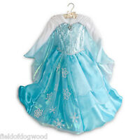 NWT DISNEY STORE Frozen ELSA COSTUME DRESS Gown 5/6 7/8 Limited Edition Deluxe