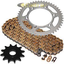 Gold O-Ring Drive Chain & Sprockets Kit Fits SUZUKI RM125 1997 1998 1999 2005