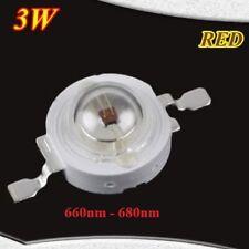 3 Watt Led Chip 700mA 660nm 680nm Dunkel Rot 3W Grow Epistar HighPower 2,2V 2,4V