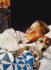 "Norman Rockwell ""A Boy And His Dog"" 8x10 Poster Fine Art Print"