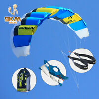 Sports Power Kite 1sqm 40D Ripstop Nylon with Line Straps Set for Kids Outdoors