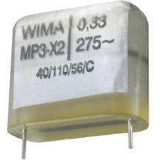 4 Stück Wima MP3 X2 KONDENSATOR 0,33µF 330nF 275VAC RM-22,5 made in Germany
