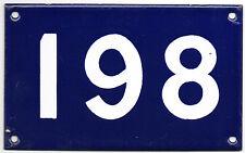 Old Australian used house number 198 861 door gate enamel metal sign French blue