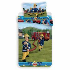 Fireman Sam Single Cotton Duvet Cover Set Boys Bedtime  Sam Elvis