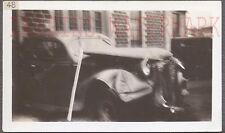 Unusual Vintage Photo 1938 DeSoto Car Wreck on Camera Lens 728165