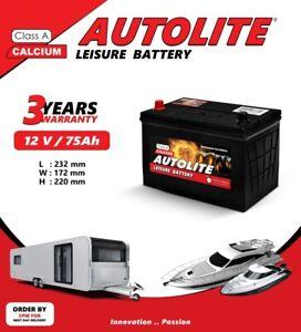 75 Ah Autolite Leisure Battery For Caravans Motorhomes Marine Camper DEEP CYCLE