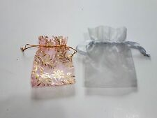 2 small organza jewellery gift pouches