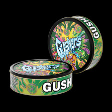 Gushers - Green 3.5g press it in cali Tins preapplied labels