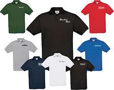 PoIo Shirt mit Aufdruck Imbiss Restaurant Gastro, B&C T-Shirt  Logo Name Wunsch