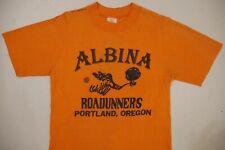 Vintage 70s Nike T Shirt Pinwheel Small Albina Roadrunners Portland Track Club