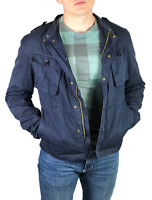 BURBERRY BRIT men's blue cotton windbreaker jacket | Size M