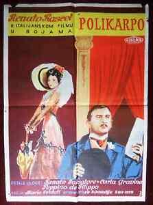 1959 Original Movie Poster Policarpo Mario Soldati Renato Rascel Italian comedy