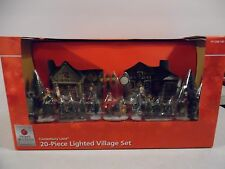 Home Accents Holiday Canterbury 20 Pc Lighted Village Hand Painted Porcelain NEW