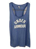 Womens Under Armour Tank Top | Size XS | Blue Racer Back Heat Gear Running Shirt