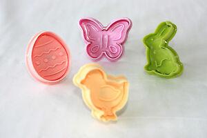 Easter Plunger Rabbit Easter egg Butterfly Duck Cake Toppers Easter Spring cake
