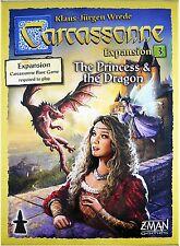 Carcassonne 2.0 Princess & Dragon Expansion #3 Board Game Z-Man Games ZMG 78103