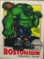 PEARL JAM BOSTON FENWAY PARK 2016 AMES BROS GREEN MONSTER POSTER