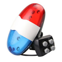 Bicycle 4 Tone Sounds Bell Police Car Light Electronic Horn Siren for Kid's Bike