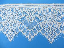 3 meters lace trim eyelash fabric vintage venise French Chantilly style white
