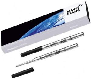 Montblanc 2 StarWalker Exploration Silver Grey Ballpoint Ink Refills #119605~NEW