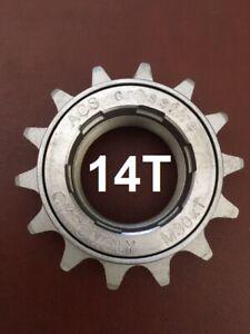"ACS Crossfire BMX freewheel 14T x 3/32"", silver, M30x1 threads fits 1/8"" & 3/32"""
