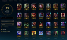 League of legends Account Unranked/4skins/28champions/NA