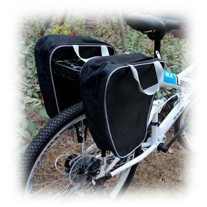 Coppia borse posteriori per bici sganciabili porta oggetti zip di chiusura