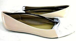 Pierre Dumas Womens Moni 29 Casual Ballet Flats, Nude Patent US Size 6.5 M