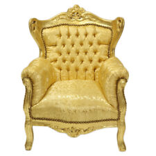 CHILDREN BAROQUE STYLE ARMCHAIR GOLD / GOLD  # F5MB80