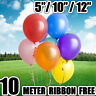 "10-100 PCS HELIUM Pearlised Latex Balloons 5"" Wedding Birthday Party CHRISTENING"