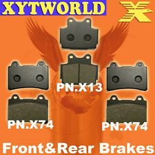 FRONT REAR Brake Pads for Yamaha FZR 250 RR 1990