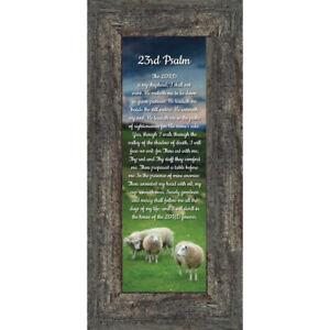 Psalm 23 Christian Wall Art, The Lord is My Shepherd Bible Verses Wall Decor