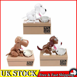 Pet Dog Stealing Eating Coin Money Penny Cents Puppy Storage Bank Saving