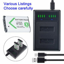 Battery /DUAL USB  Charger for Sony NP-BX1 Cyber-shot DSC-RX100M6 (RX100 VI)