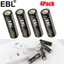 Rechargeable AA Li-ion Battery with Mirco USB Port 3300Wh 1600mAh + Cable 4pcs