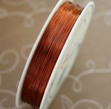 Brass wire 0.3 mm COPPER colour 1 spool (28 metres)