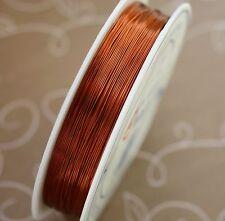 Brass wire 0.3 mm COPPER colour 1 spool (28 metres)