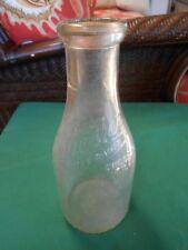 Vintage Quart Milk Bottle-CHESTER CITY DAIRY Chester,Ill.(with Milk Cap)