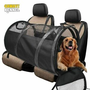 Dog Car Seat Cover Hammock Kennel Pet Carrier Rear Back Protector With Belt