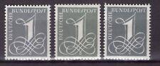 BRD 1958 Mi.-Nr. 285 X+Y i+II kpl. postfrischer ** Typensatz (A1-097)