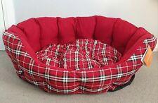 Pets Luxury Tweed Dog/Puppy/Cat Bed Washable Soft Fur Comfy Warm Cushion basket