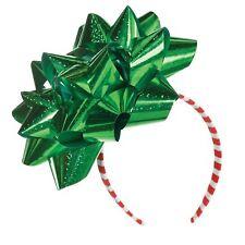Verde Cinta Navidad Regalo Lazo Diadema Mujer Chica Fiesta Festivo