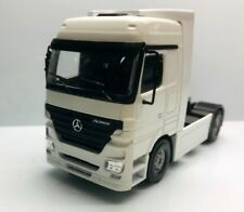JOAL 1/50 MERCEDES BENZ ACTROS CAMION TRAILER TRUCK MADE IN SPAIN METAL BLANCO