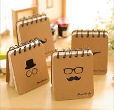 4PC Mini Pocket Notebook Blank Paper Writing Memo Diary Planner Journal Notepad