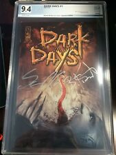 Dark Days #1 Signed Edition PGX 9.4+ Certified Graded Autographed x2