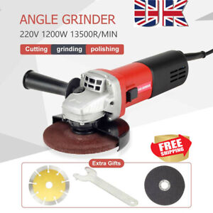 1200W Electric Angle Grinder Cutting Grinding Sand Power Tool 125mm Disc Cut Kit